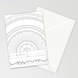 Big decorative rosette Stationery Cards