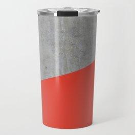 Concrete and Cherry Tomato Color Travel Mug