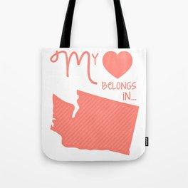 My Heart Belongs in Washington Tote Bag
