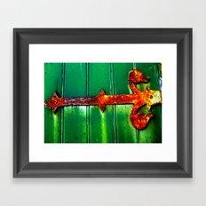 Rustic Hinge Framed Art Print