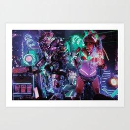 Robot Girl 2 Art Print