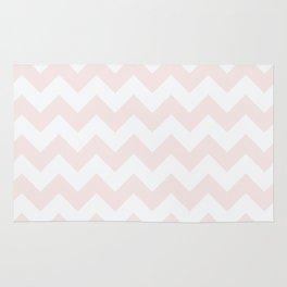 Chevrons - Pink & Cream Rug