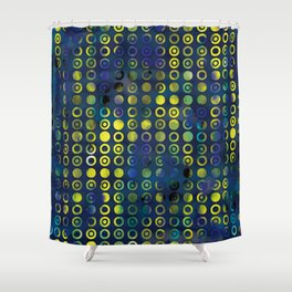 gold&blue Shower Curtain