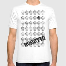 Robotto! Mens Fitted Tee White MEDIUM
