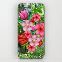 emoji iPhone & iPod Skins featuring Flower Emoji by jajoão