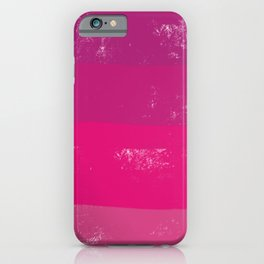Pink Mono Square iPhone Case