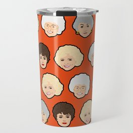 The Golden Girls Orange Pop Art Travel Mug