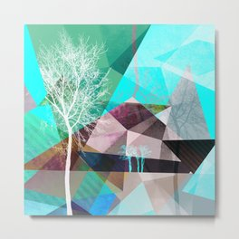 P16 TREES AND TRIANGLES Metal Print