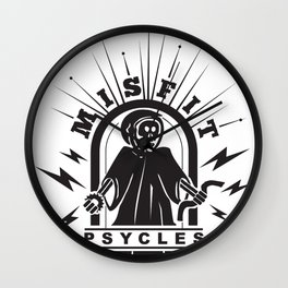 Misfit Death Psycles Wall Clock