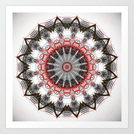 Black White Minimalist Mandala 1 Art Print