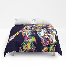 Transformer in pop art Comforters