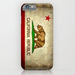 California Republic Retro Flag iPhone Case