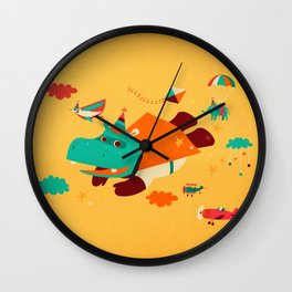 Super Hippo! Wall Clock