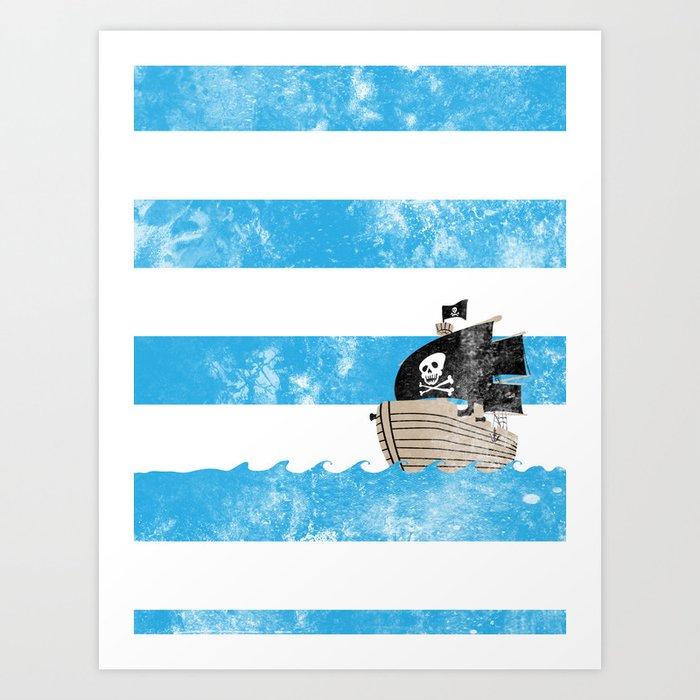 Pirates Love Stripes Art Print