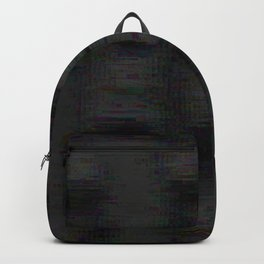 Abstract black grey glitch Backpack