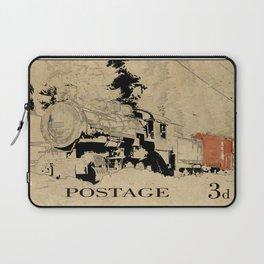Vintage Steam Train on Postage Stamp Laptop Sleeve