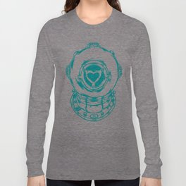 Love Helmet: Blue Long Sleeve T-shirt