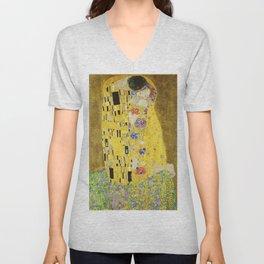 The Kiss - Gustav Klimt, 1907 Unisex V-Neck