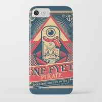 pirate iPhone & iPod Cases featuring One-eyed Pirate by Victor Beuren
