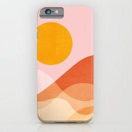 Abstraction_Mountains_SUN_Beach_Ocean_Minimalism_001 iPhone Case