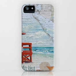 Red Life Guard Stand iPhone Case