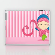 Ballerina -- Fun, sweet, unique, creative and very colorful, original,digital children illustration Laptop & iPad Skin