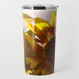 salute to the Sun as a sunflower Travel Mug