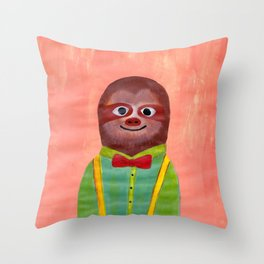 Mister Sloth 1 Throw Pillow