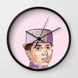 Lobby Boy Wall Clock
