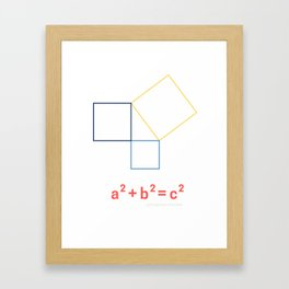 Pythagorean Theorem Framed Art Print