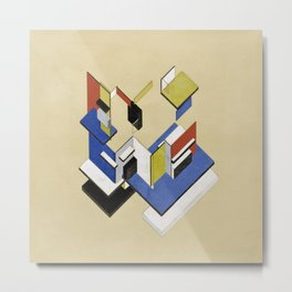 Theo van Doesburg - Contra-Construction Project (Axonometric) - Abstract De Stijl Painting Metal Print