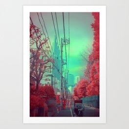Infrapink 02 Art Print