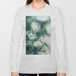 Summer Floral Teal Dreams Long Sleeve T-shirt