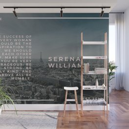 Serena Williams On Women Supporting Each Other 4 Wall Mural