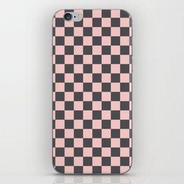 Gingham Millennial Pink Blush Rose Quartz Coco Brown Neapolitan Checked iPhone Skin