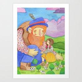 Little giant Art Print