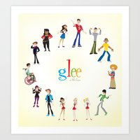 glee Art Prints featuring Glee by Tunasammiches