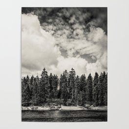 Far Away Clouds Passing By Poster