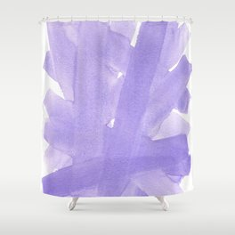 Superwatercolor Lilac Shower Curtain