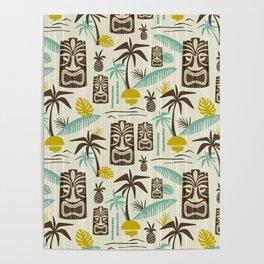 Island Tiki - Tan Poster