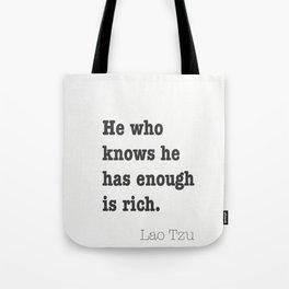 Confine yourself to the present. Marcus Aurelius Tote Bag