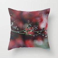 November Rain and Acer Bokeh Throw Pillow