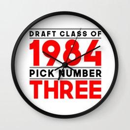 Class of 1984, Pick 3 Wall Clock