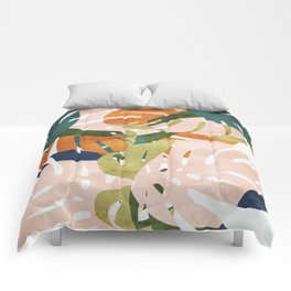 Monstera delight Comforters