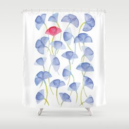 Violets flover, watercolor pattern Shower Curtain