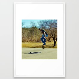 Graphic Kickflip Framed Art Print