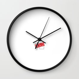 Licensed to Sell Homes Funny Real Estate T-shirt Wall Clock