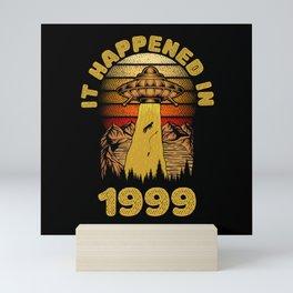 It Happened In 1999 UFO Alien Mini Art Print