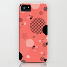 Coral Dots iPhone Case