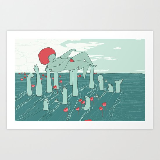 Many Hands Art Print